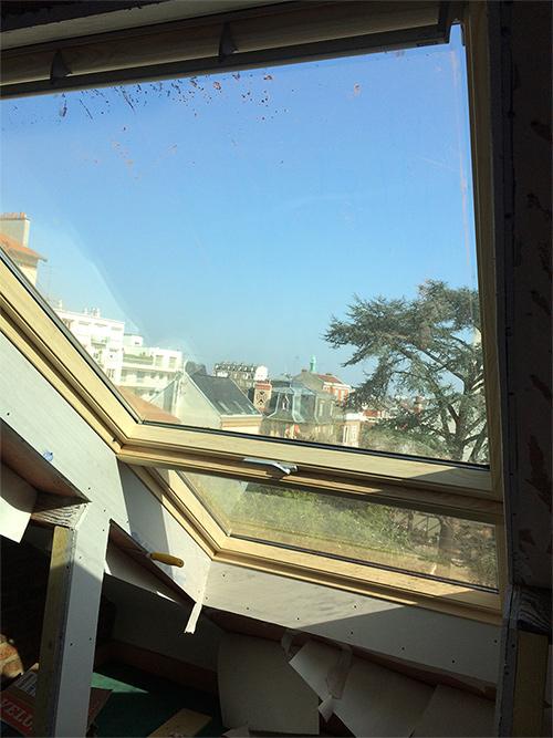 Pose velux fen tre de toit velux cap habitat for Montage fenetre de toit