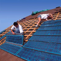 Pose panneaux photovoltaiques